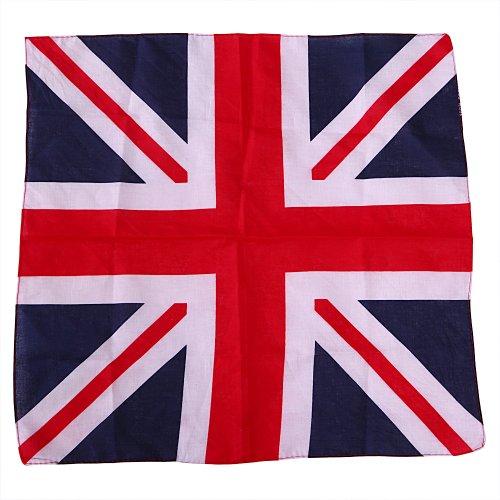 HDE 100% Cotton Bandana - UK Flag Print (Napkins British compare prices)