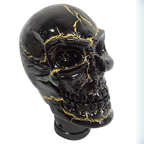 Mavota Black Gold Skull Manual Automatic Gear Shift Knobs (Automatic Shift Knob Gold compare prices)