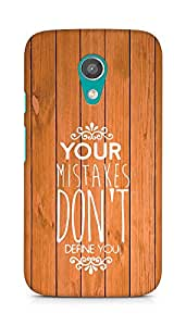 AMEZ your mistakes dont define you Back Cover For Motorola Moto G2