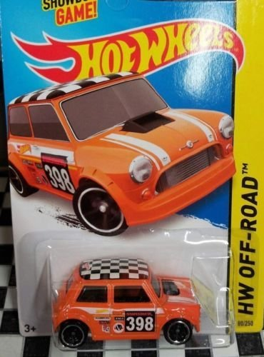 Hot Wheels, 2015 HW Off-Road, Morris Mini [Orange] Die-Cast Vehicle #80/250 - 1