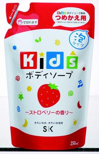 エスケー石鹸 キッズボディソープ ストロベリーの香り 詰替用250ml
