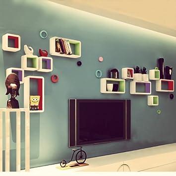 Songmics lot de 3 tag res tag res lounge cube - Etagere pour livre de cuisine ...