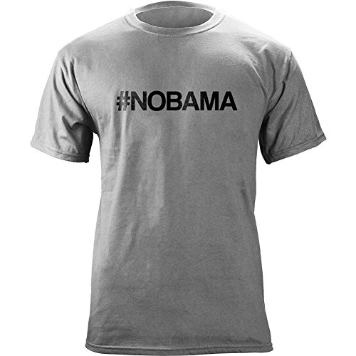 Classic #Nobama Hashtag T-Shirt (Xl, Heather Grey)
