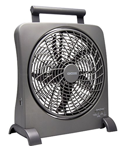 O2COOL 10-Inch Portable Smart Power Fan with AC Adapter & USB Charging Port (02 Cool Usb Fan compare prices)