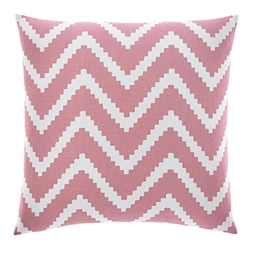 Nautica Bell Point Chevron Decorative Pillow, Pink