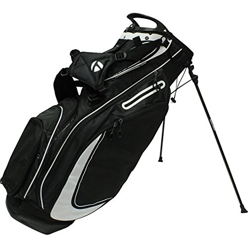TaylorMade Custom PureLite Stand Bag | Black/White (Taylormade Purelite Stand Bag compare prices)