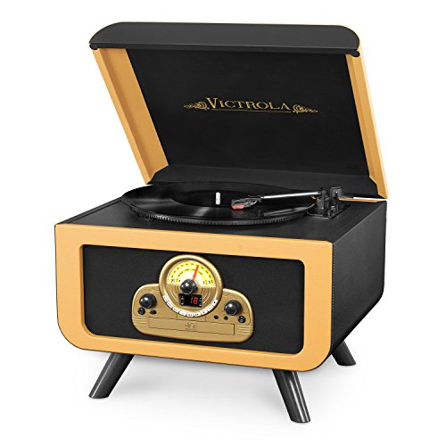 Victrola Tabletop Record Player with Bluetooth and CD (Victrola Turntable compare prices)