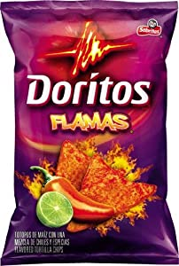 Doritos Flamas Flavored Tortilla Chips, 2.125 Oz Bags (Pack of 28)
