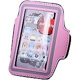 Apple Iphone 5 Sweat-proof Neoprene Armband Case W/ Velcro Closure - Hot Pink