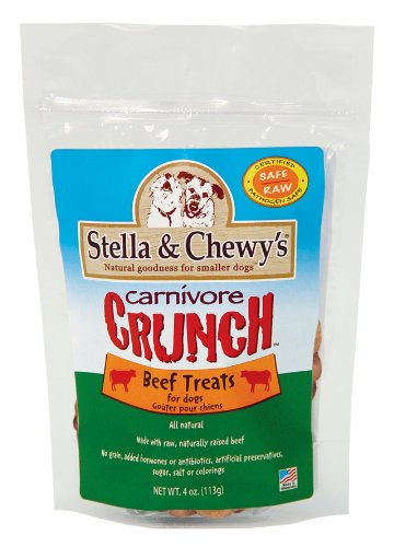 Stella & Chewy's Freeze Dried Dog and Cat Treats, Carnivore Crunch Beef Recipe, 4 Ounce Pouch