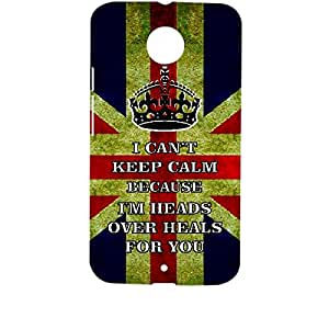 Skin4gadgets I CAN'T KEEP CALM BECAUSE I'M HEADS OVER HEALS FOR YOU - Colour - UK Flag Phone Designer CASE for MOTOROLA MOTO X2 (X+1)