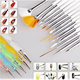 Goliton® 20pc Nail Art Design Painting Dotting Detailing Pen