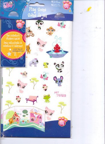 Littlest Pet Shop Play Scene Stickers - 1