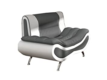 Polstersessel Einzelsofa Peso, Lounge Sessel vom Hersteller, Polstermöbel, Modern Relaxsessel Kunstleder 4-Farben, Sofagarnitur, Couchgarnitur (D511 + D4)