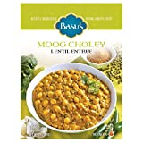 Basu's HomeStyle Moog Choley fully prepared lentil entrée pouch (7oz x 6 pack) - Indian lentil flavors from home