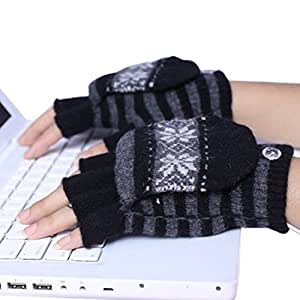 Amazon.com : Eforstore Laptop Gloves USB Heated Half
