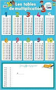 Poster ardoise les tables de multiplication - Apprendre les tables de multiplication ce1 ...