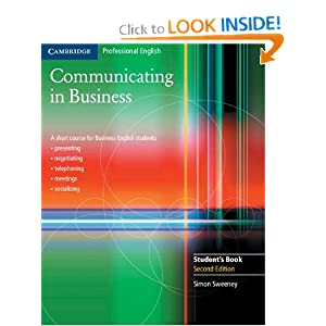 Communicating in Business: A Short Course for Business English Students, 2nd Edition (Cambridge Professional English)