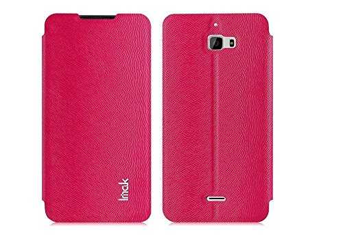 Heartly Imak squirrel pattern Premium Luxury PU Leather Flip Stand Hard Back Case Cover For Micromax Canvas Nitro A310 A311 Dual Sim - Cute Pink
