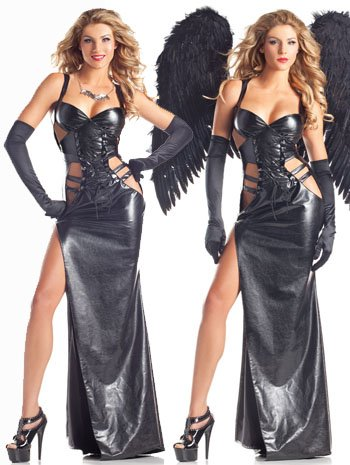Dark Angel or Gothic Vampire Costume - MEDIUM/LARGE
