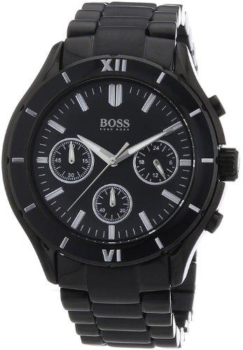 Hugo Boss - Reloj para mujer de acero inoxidable negro
