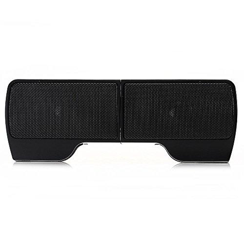 Crazo 3.5mm Clip-on Enceinte Haut-parleur USB Audio pour Moniteur LCD Tablet PC Noir