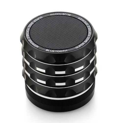 Roke(Tm) Super Bass Portable Mini Wireless Bluetooth Speaker For Iphone Ipad Samsung Phones Tablets Pc - Black
