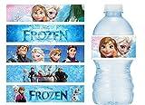 Disney Frozen Water Bottle Labels - Set of 20 - Vinyl Waterproof Stickers