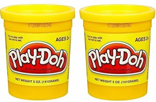 PLAY-DOH Compound Yellow - Two, 5 oz Cans (10 oz) - 1