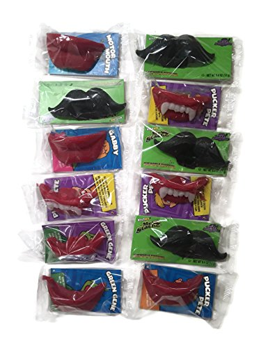 Wack-O-Wax Lips, Fangs & Mustaches Variety Set [4 of each type] (Concord Wax Lips compare prices)
