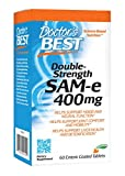 Doctor's Best SAM-e 400 mg, Vegan, Gluten Free, Soy Free, Mood and Joint Support, 60 Enteric Coated Tablets