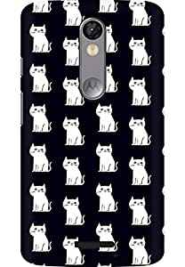 AMEZ designer printed 3d premium high quality back case cover for Moto X Force (white little cats )