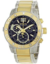 Invicta Men's 0761 Reserve Collection Chronograph 18k Gold-Plated and Silver-Tone Stainless Steel Watch