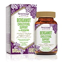 buy Reserveage Nutrition - Bergamot Cholesterol Support With Resveratrol, A Heart-Healthy Formula, 30 Veg Capsules