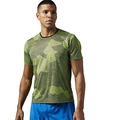 Reebok t-shirt da uomo a maniche corte da corsa Essentials, Ash Grey, 2XL, AJ0365