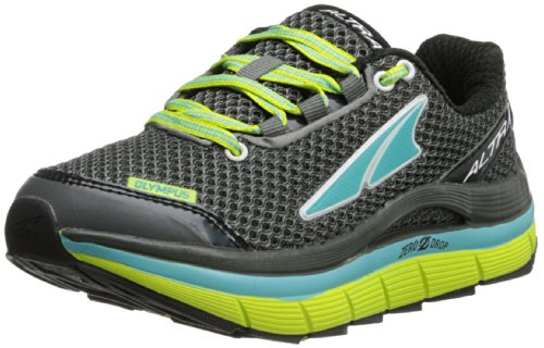 Altra Women's Olympus Running Shoe,Black/Green,8.5 M US