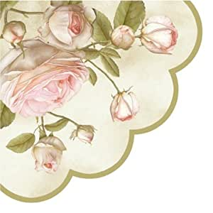 Round Paper Napkins Lucy Pink Roses Decoupage: Health & Personal Care