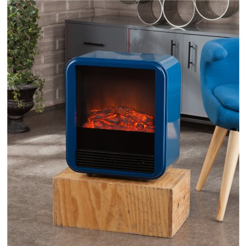 Fasser Electric Fireplace - Navy