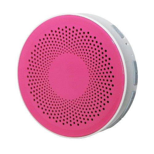 Bluetooth 防水 ワイヤレス オーディオ スピーカー ピンク/ホワイト お風呂 バス シャワー対応 [Bluetooth3.0][IPX4] iphone スマホ 対応 Hanwha  HS-BWS001-P