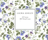 Laura Ashley Twin Sheet Set - Wildflower in Blue and Lavender, Vines and Leaves in Shades of Green