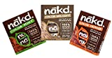 Nakd Raw Wholefoods Bars Mixed Cocoa Case Mint, Orange, Chocolate (Pack Of 24 Bars)