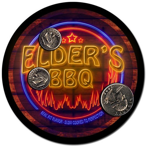 Elder'S Barbeque Drink Coasters - 4 Pack