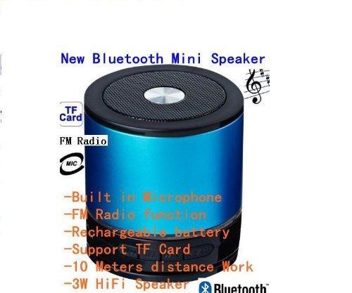 New Bluetooth Mini Ultra Portable Speaker With Rechargeable Li Battery (Works W/ Ipod, Ipad, Iphone, Android Devices) - Best Sounding Mini Speaker In The Market!