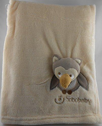 ZAMBAITI-morbida coperta per bebè con civetta ricamati con nome e DATA