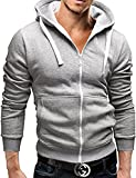 Plain Mens American Fleece Big Sizes (S to 5XL) Zip Up Hoody Hooded Zipper Top