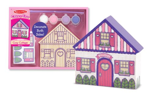 51lXd7IjUBL Cheap  Melissa & Doug Decorate Your Own Cozy Cottage