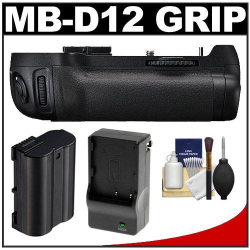 Xit MB-D12 Pro Series Multi-Power Battery Grip for Nikon D800 & D800E Digital SLR Camera with EN-EL15 Battery & Charger + Cleaning Kit