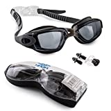 Naga Sports Marine Swimming Goggles - Anti Fog Anti Shatter Leakproof Waterproof with UV Protection for Men Women Kids Adults - Gray