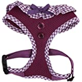 Authentic Puppia Vivien Harness, Purple, Small
