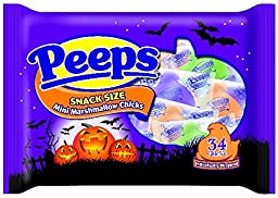 Marshmallow PEEPS Snacks Size Chicks, 5.6875 Ounce
